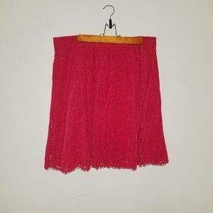 New York and company red skirt.